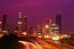 Atlanta, Georgia Skyline at Night