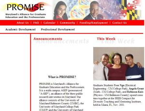 First PROMISE website, 2003