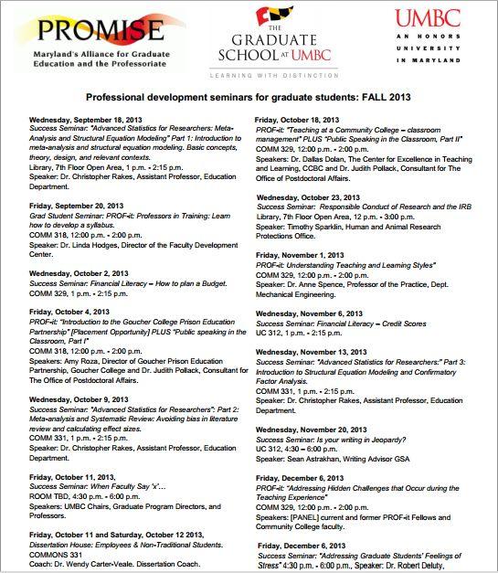 Success Seminars 2013