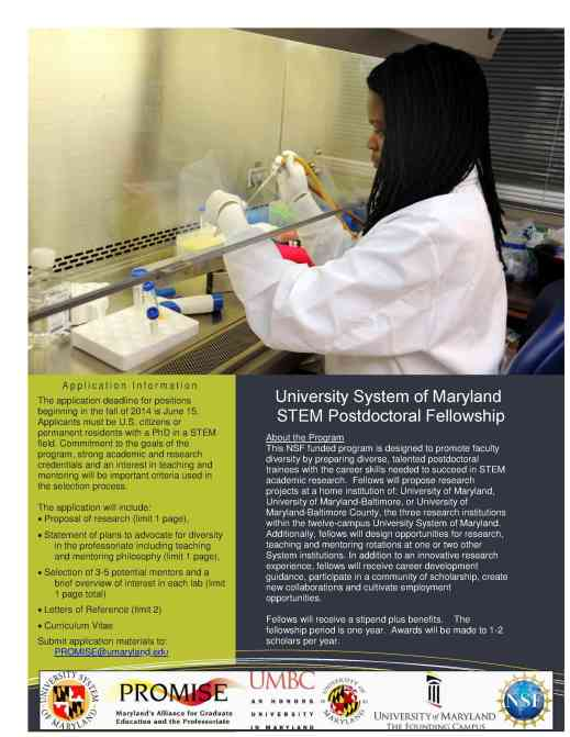 USM STEM Postdoctoral Fellowship to Promote Faculty Diversity 051220141