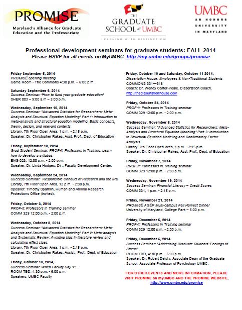 Fall 2014 Seminars