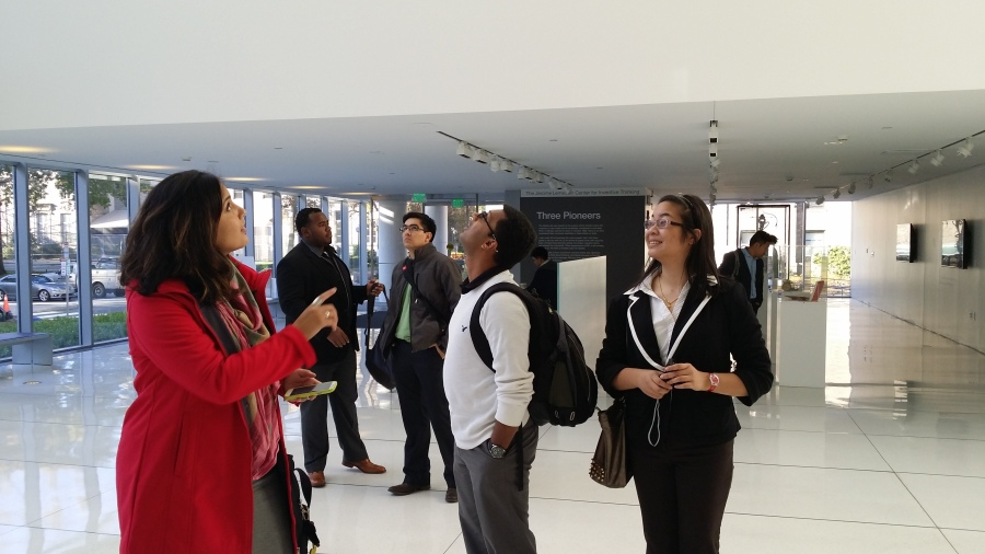Photo taken at the MIT Media Lab, October 27, 2014.  The photo features students from UMBC: mechanical engineering, biological sciences, computer science and electrical engineering.