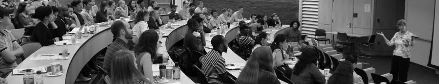 Dr. Linda Hodges teaches graduate students at UMBC about inspiring disciplinary thinking, August 2015.