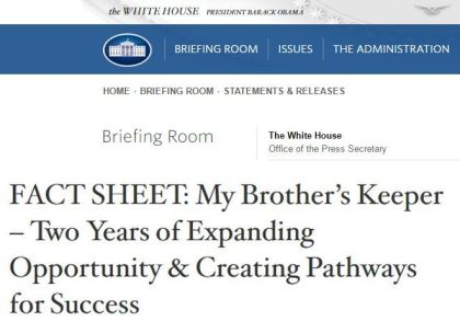 White House Fact Sheet webpage