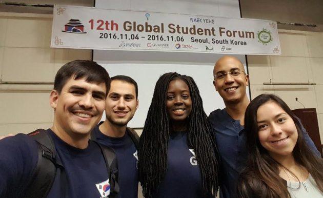 91ec99f176630c Left-to-right  UMBC Graduate Students  Hector Medina, Saadi Habib, Gloria  Opoku-Boateng  David Delaine (Assistant Professor of Engineering Education  at the ...