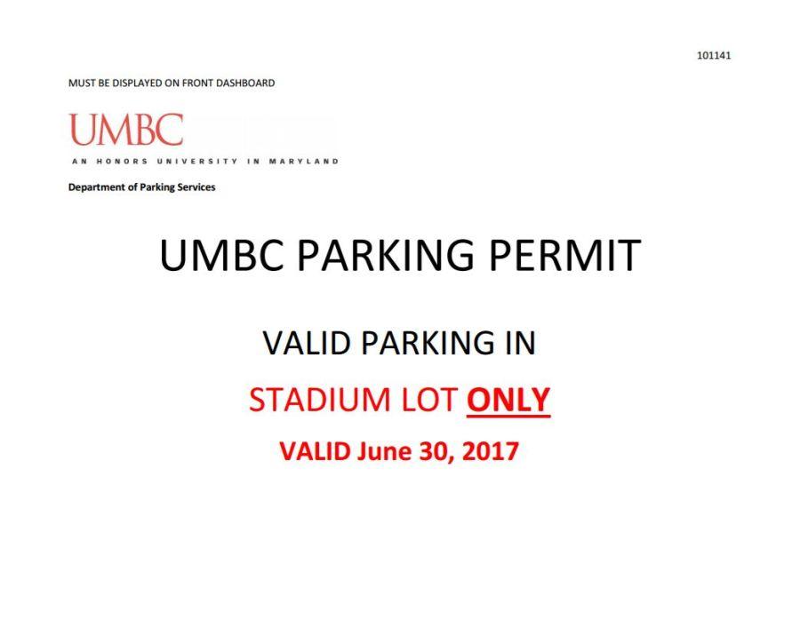 Parking permit Horizons 2017